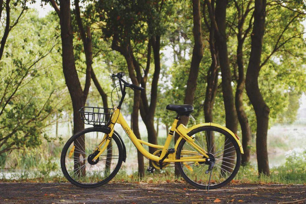 Bilde av en OFO sykkeldeling sykkel, hvordan starte egen sykkdeldelingstjeneste