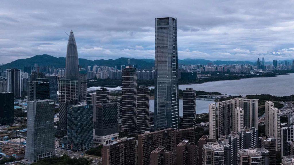 Bilde av Shenzhen skyline i Nanshan distriktet